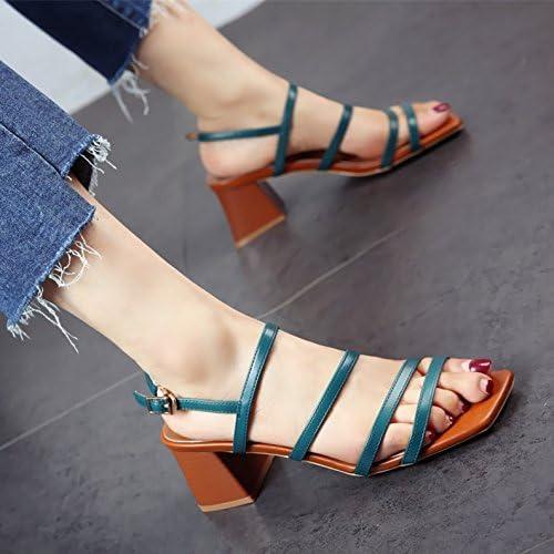 YMFIE Style européen Summer Mode Cross Toe Chaussures Lady's Outdoor Chaussures de Plage Sandales très Confortables.