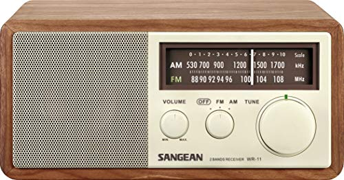 Sangean WR-11 Wood Cabinet AM/FM Table Top Analog Radio