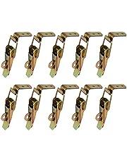 Gurxi 10 Stuks Eend Gefactureerde Gespen Vang Klem Spanning Lock Rvs Lente Geladen Toggle Vangst Sluiten voor Case Box Toolbox Lade Kabinet Borst Gegalvaniseerd