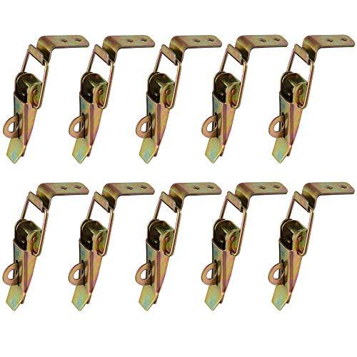 Gurxi Kistenverschluss Kistenverschluss Spannverschluss Kistenverschluss Spannverschluss Klein Kistenverschluss Mit Sicherung Kistenspannverschluss Spannverschluss Verzinkt 10 Stücke