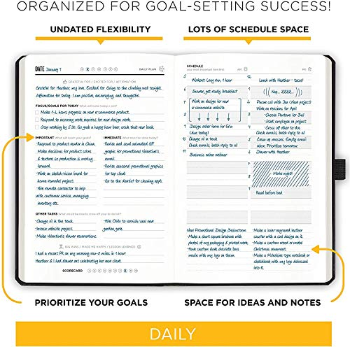 """Product Image 4: Get Stuff Done Planner for Productivity – 13 Week Undated Planner, 8.3"""" x 5.5"""" – Monthly, Weekly And Daily Agenda – Best For Full Focus And Achieving Goals – Personal Organizer for Men & Women"""