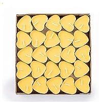 50ピース結婚式パーティー装飾キャンドル無煙無味アルミニウムシェルキャンドルティーライトホームキャンドルサプライヤー装飾 (Color : Yellow 50pcs)