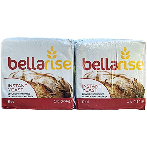Instant Dry Yeast - 1lb Superior Bread Yeast for Artisan Bread, Bagels, Pizza Crusts, Pretzels, Sweet Dough (2 Pack Red)