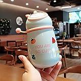 KANCK 350ml Duelo de Duende Caliente Botella de Agua de Felpa de Lentejuelas de impresión de Lentejuelas de Agua aislada portátil para niños Botella de Agua para niños