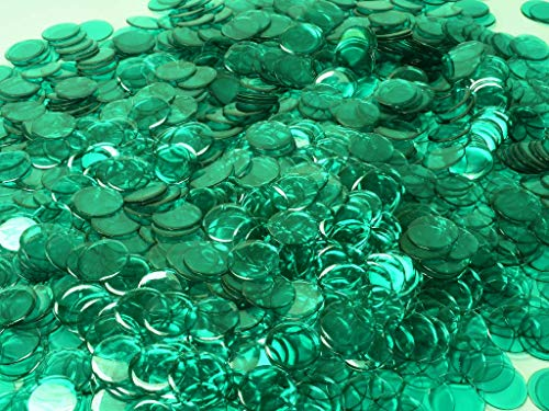 Purchase MR CHIPS Transparent Green Bingo Chips 72 Tubs of 250 Count 7/8 Inch