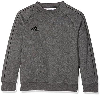 Adidas CORE18 Y Sudadera, Unisex Niños, Gris (Dark Grey Heather/Black), XL (13-14 años)