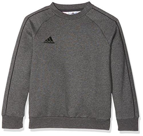 Adidas CORE18 Y Sudadera, Unisex Niños, Gris (Dark Grey Heather/Black), M (9-10 años)
