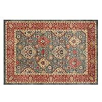 モロッコの民族的なスタイルの床のカーペット、リビングルームの寝室のコーヒーテーブルエリアラグのための女の子の家の装飾カーペット (Color : A, サイズ : 80cm*160cm)
