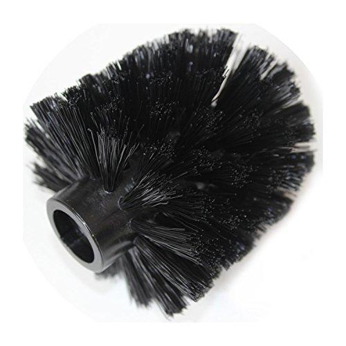 Koziol MIAOU, Sense & Rio schwarz WC-Ersatzbürstenkopf Innengewinde, Thermoplastischer Kunststoff, 7.7 x 7.7 x 9.3 cm