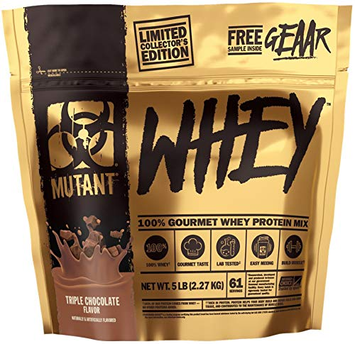 PVL Mutant Whey Package of 1 x 2270g – Limited Edition – Whey Protein Concentrate – Isolate – Hydrolyzate – Muscle Growth Supplement – Amino Acid – BCAA (Triple Chocolate)