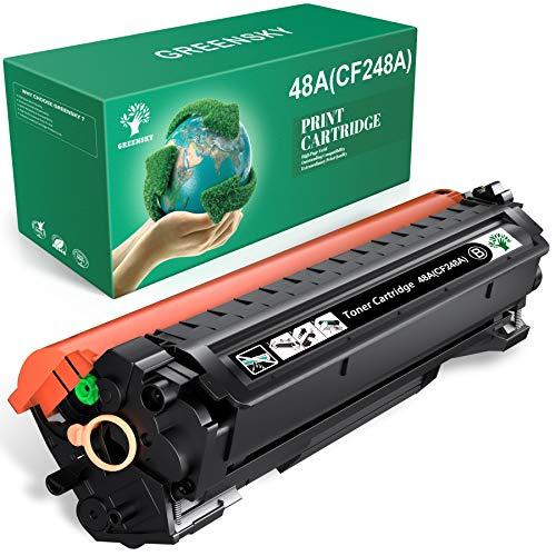 GREENSKY Compatible Toner Cartridge Replacement for HP 48A CF248A for HP Laserjet Pro M15w MFP M29w M15a M16a M16w MFP M29a MFP M28w MFP M28a M30w M31w Printer (Black, 1 Pack)