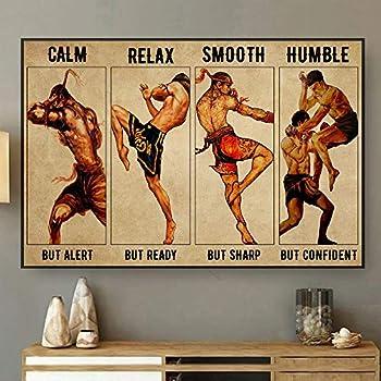 Zira-S Muay Thai Calm But Alert Paper Poster -Unframed Poster- Muay Thai Poster- Love Muay Thai -Wall Decor-26i1