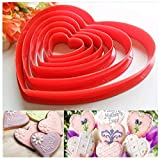 ❀ Multi-size: Love Width 11.5 / 9.5 / 8.0 / 5.5 / 5.0 / 3.5 cm; Five-pointed Star Width 13.0 / 11.0 / 9.5 / 7.5 / 6 / 4 cm ❀ Easy to use and clean, Heat-resistant, reusable, durable ❀ Can be washed, boiled disinfection-Please dry it after cleaning, d...