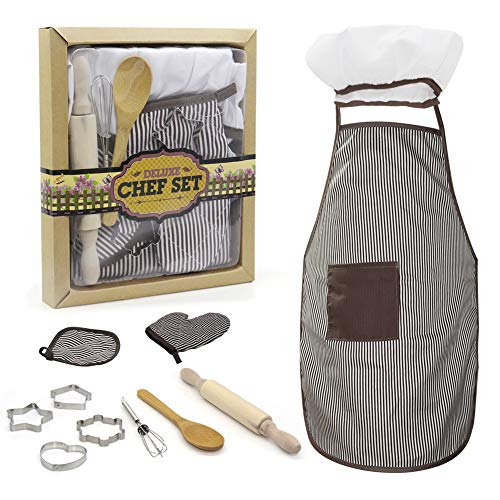 Juego de utensilios de cocina para nios (11 unidades), diseo de rayas