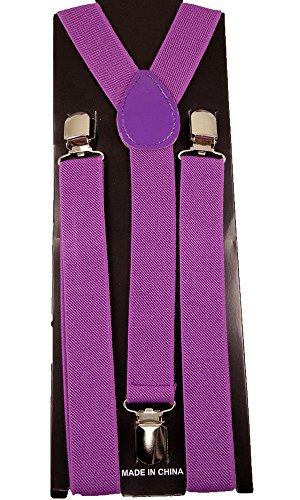 "Mens/Womens ""Purple"" Suspender Y-Back Adjustable"