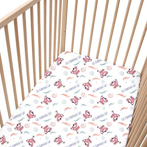 2 St/ück 70 x 140 cm Esche und Wei/ß Pink PatiChou 100/% Baumwolle Spannbetttuch f/ür Kinderbetten // Babybetten