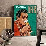 Cuadros Decorativos,Cartel De Cerveza De Restaurante De Estilo Industrial Vintage, Decoración De Pared para Bar De Café, Pintura Artística, Imagen Mural Artesanal Sin Marco 50X70Cm,R410