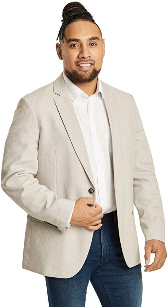 Ranking TOP5 Johnny Bigg Large-scale sale Big Tall Blazer Linen Blend Reese