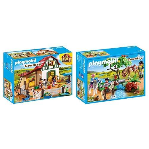 Playmobil 6927 - Ponyhof &  6947 - Fröhlicher Ausritt