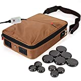 Portable Massage Stone Warmer Set - Electric Spa Hot Stones Massager Heater Kit...