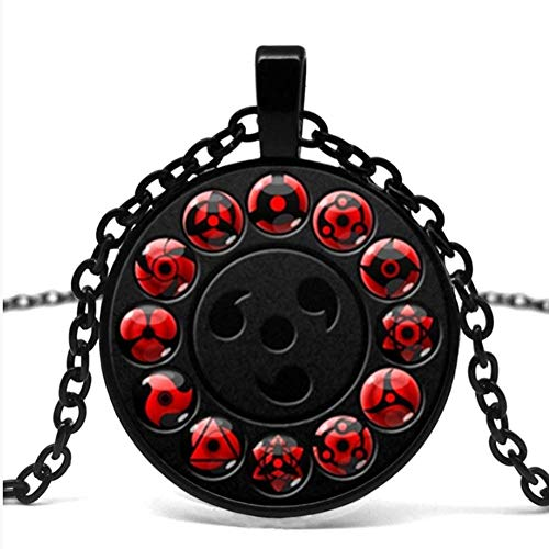 VAWAA Glass Naruto Shippuden Pendant Halskette Runde Naruto Sharingan Eye Chain Necklace Vintage Ladies Jewelry.
