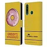 Head Case Designs Licenciado Oficialmente The Umbrella Academy Fresa Donuts Griddy Carcasa de Cuero Tipo Libro Compatible con Huawei Y6p