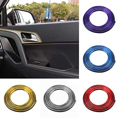 Yunnyp ABS Auto-Zierleiste, 5 m, Auto-Innendekoration, Türleiste, Zierleiste, Styling Trim Decals Line, Plating blue, Plating blue, 1