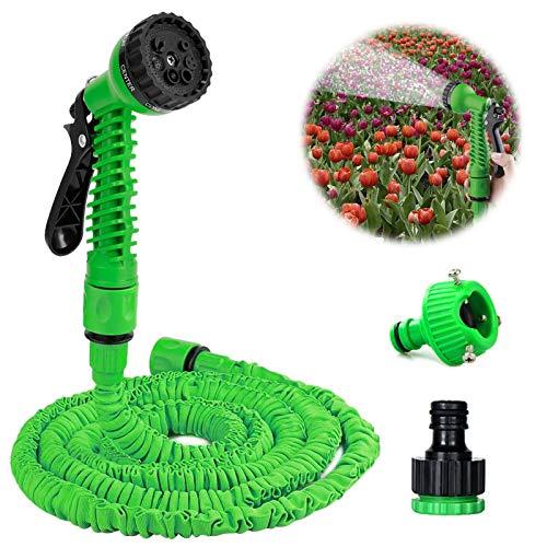 Tubo da giardino allungabile,Tubo da Giardino Estensibile Retrattile,Tubo Acqua Giardino Flessibile con Funzioni di Spruzzo,Tubo per Irrigazione Professionale,Tubo da Giardino (25ft)
