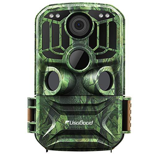 Wildkamera WLAN 24MP 1296P, Usogood Wildtierkamera WiFi mit Infrarot Nachtsicht Bewegungsmelder Handyübertragung, Wild Jagd-Kamera Zeitraffer, 120° Weitwinkel, Wasserdicht IP66, 940nm IR LED