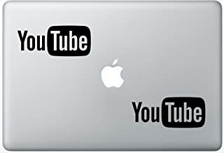 You Tube Logo HenryDecalZD0027 Set Of Two (2x) , Decal , Sticker , Laptop , Ipad , Car , Truck
