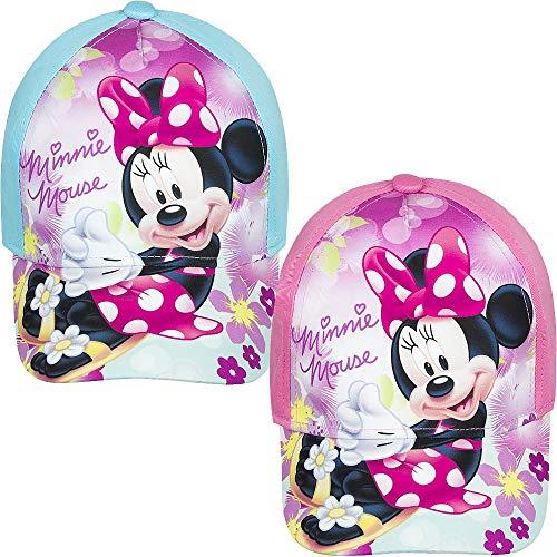 4558 Kinder Cap Baseball Cap Kappe Basecap Disney Minnie Mouse Maus Mädchen (rosa, 52cm)