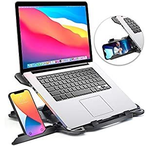 Laptop Stand for desk, Adjustable Computer Stand for All Laptops and MacBook Pro, Air 13 15 17 inches, Portable Laptop…