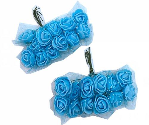 Cotigo -96 Piezas Artificiales Rosa Flor de Goma eva Novia Decoración