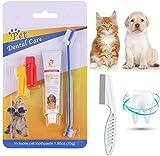 Smatoy Pasta Dental Perros,Cepillo de Dientes para Perro y Gato,Peine, Kit Cuidado Dental,Mejorar la...