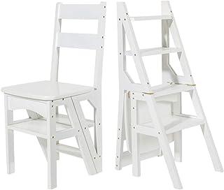 Silla de Escalera de Escalera de Tijera Ascendente transformante de 4 Pasos, Escalera de Paso