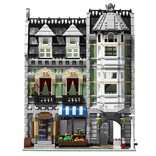 aolongwl Bloques de construcción Legoingly Technic Creator Expert Building Blocks Designer City Town Green Grocery Store Creadores De Construcción Juguetes para Niños Regalos para Adultos