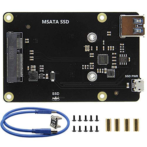 ZANYUYU Raspberry Pi 3 Model B+(Plus)/3B Msata Ssd Storage Expansion Board X850 V3.0 USB 3.0 Expansion Board Module for Raspberry Pi