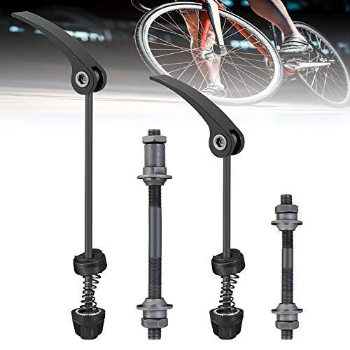 KLYNGTSK 1 Paar Fahrrad Hohlwelle Schnellspanner Fahrrad Achse Set Fahrradspieße 190mm/150mm Hinterrad Hohlachse Fahrrad Vorderradachse Fahrradnabe Set für Rennrad, Mountainbike, MTB, BMX