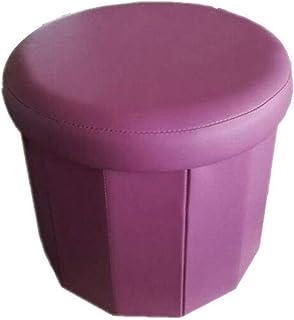 Round multi-function footrest foldable storage storage stool can sit adult-clothing storage box-folding storage mat