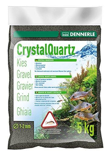 Dennerle Aquarienkies Diamantschwarz 5 kg - Bodengrund für Aquarien - Körnung 1-2 mm