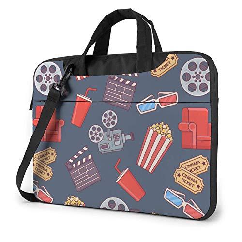 15.6 inch Laptop Tasche Schultertasche Bussiness Messenger Tablet Tasche Laptophülle Kinofilm- und Fernsehgeräte und Food Drink