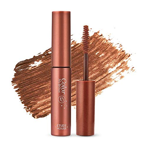 ETUDE HOUSE Color My Brows 4.5g #3 Red Brown | Eyes Makeup | Eyebrow Mascara, Quickly Fixing Natural Eyebrow Makeup with Care Effect | Kbeauty