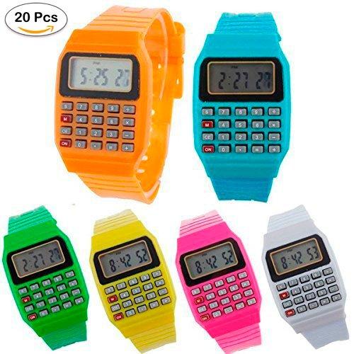 Lote de 20 Relojes Calculadora, Reloj Calculadora Niños-