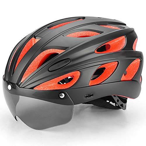Adult Helmets Sicherheitsverstellbarer Allround Helme,Mountainbike Sportradhelm,Herren Damen Fahrradhelme,Fahrradhelm, Fahrradhelm mit abnehmbarem Visier,für Mountain Road Bike Helm