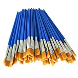 QuRRong Pinceles Cepillos de Pintura Acrílico Acuarela Pintura del Arte del Arte Plumas del Cepillo de 32 PC/Set para Detalles Finos y Pintura artística (Color : Blue, Size : 32pcs)