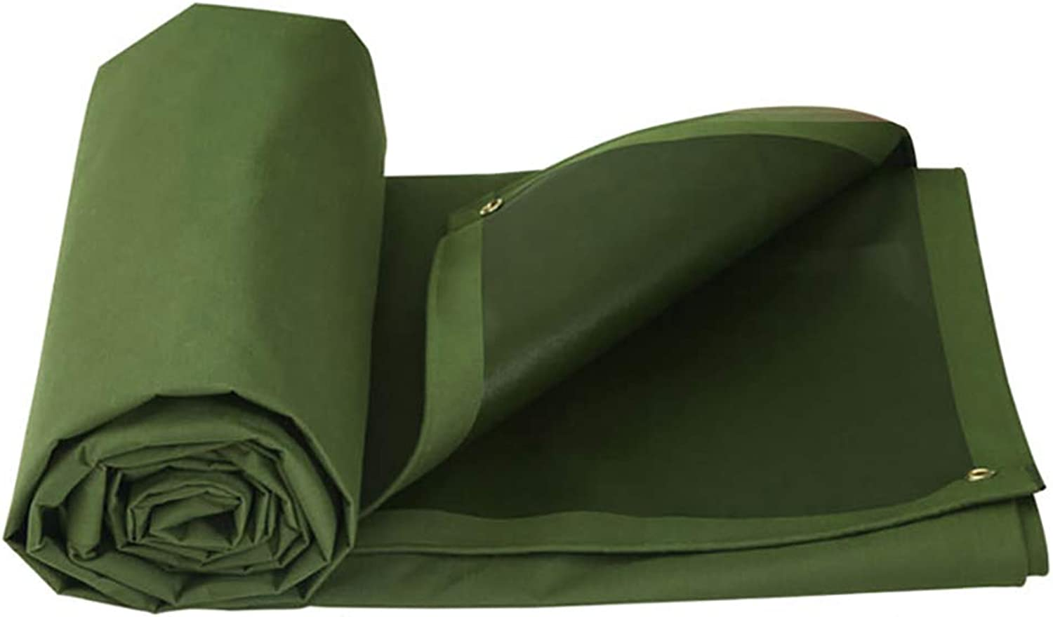 Tarpaulin Heavy Duty Tarp Canvas Waterproof,Army Green MultiUse Ground Tent Cover Multilayered Predection for Outdoor Camping RV Truck and Trailers,660G M2 LBHQF (Size   5m×4m)