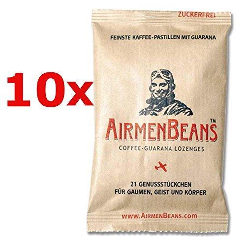 Airmen Beans 10x Kaffee Pastillen Guarana 210 St by AirmenBeans