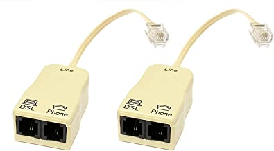 iMBAPrice (Pack of 2) in-line DSL Splitter w/Noise Filter