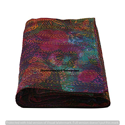 Sale!! Hand Dye Fruit Kantha Quilt Tie Dye Bed Cover Cotton Bed Cover Blanket Throw Cotton Kantha Qu...
