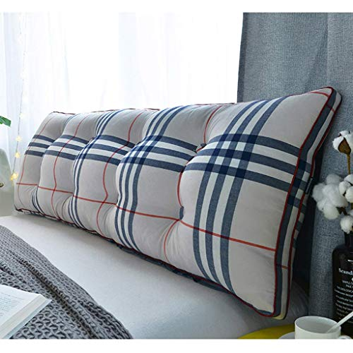 DX Double Pillow Head, Cotton Lined Folder, Lesekissen Bett, Multifunktions-Sofagürtel für das Büro zu Hause, waschbar in 4 Farben, 5 Größen (Farbe: D Höhe: 150 cm)